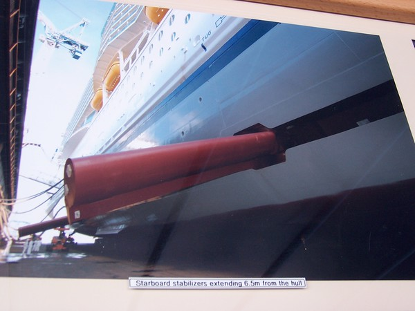 stabiliser sticking out of a ship